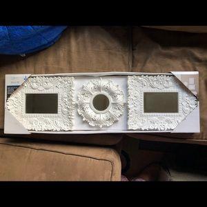 NWT New Mainstays White Mirror Set 3 Pieces